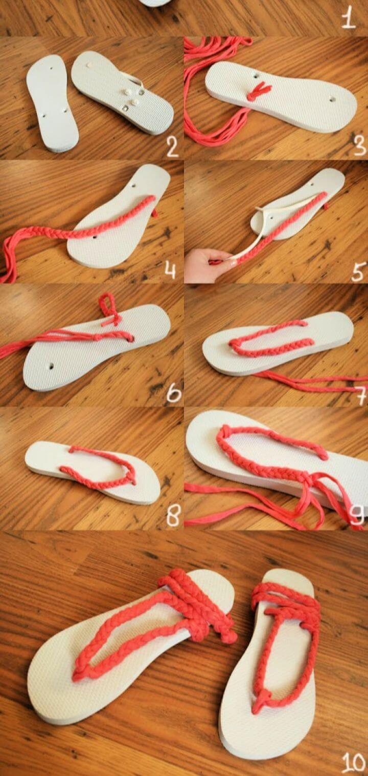 Easy DIY Flip Flops Idea