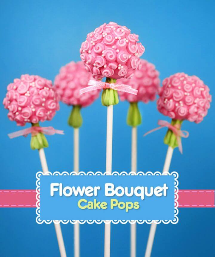 Easy DIY Flower Bouquet Cake Pops