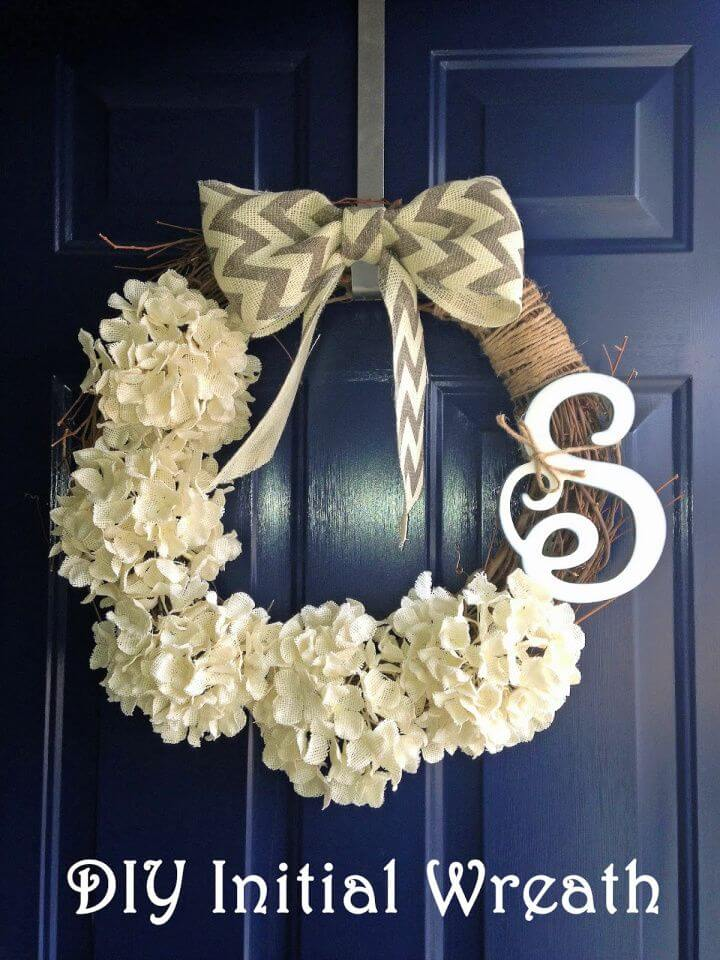 Easy DIY Initial Wreath