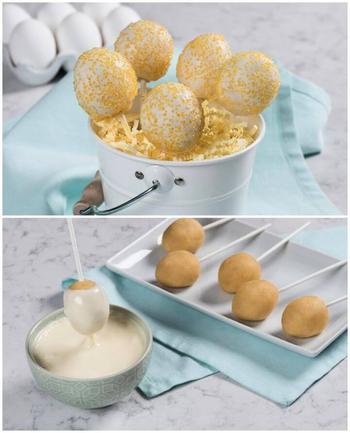 Easy DIY Lemon Drop Cake Pops