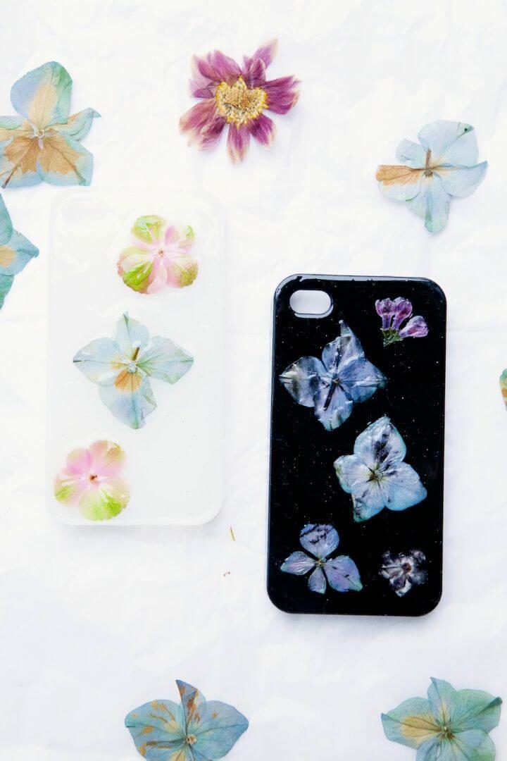 Easy DIY Pressed Flower Phone Cover Top 1