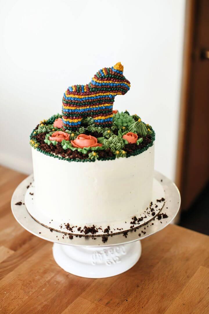 Easy DIY Sprinkle Pony Piñata Cake
