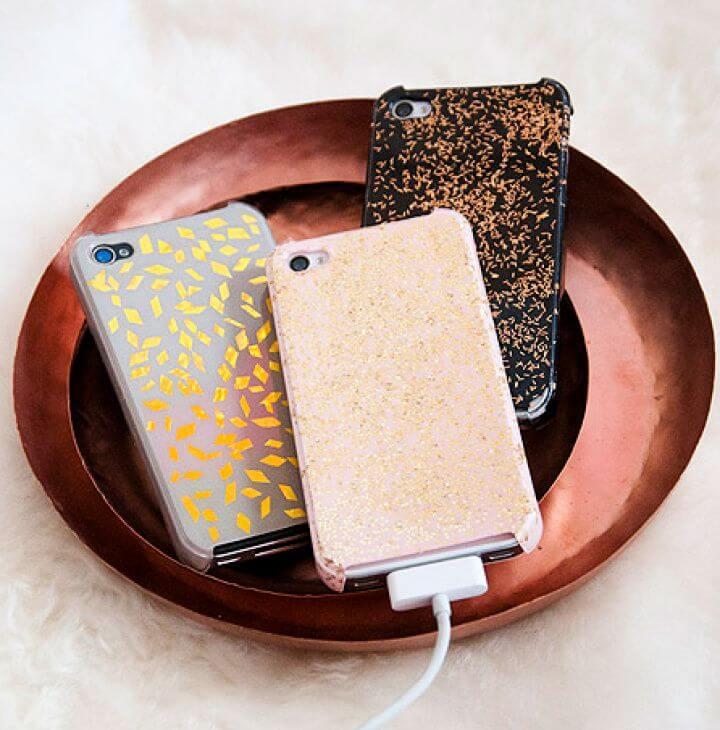 Easy DIY iPhone Cases Repurposing Holiday Glitz 1