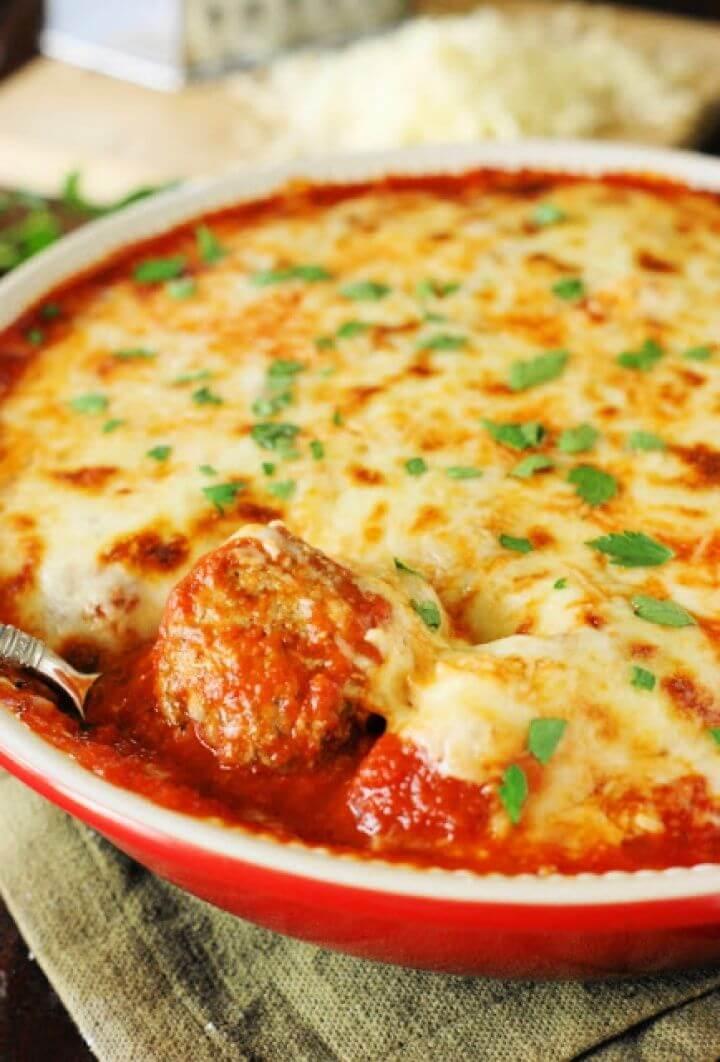 Easy Meatball Parmesan Casserole