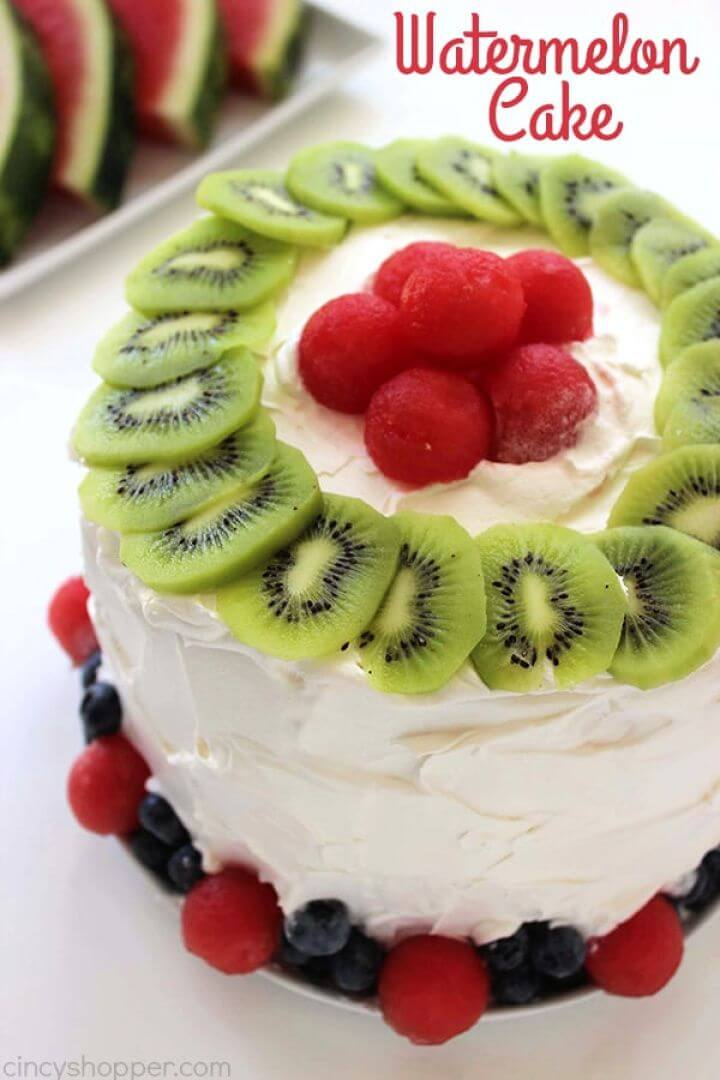 Easy Watermelon Cake