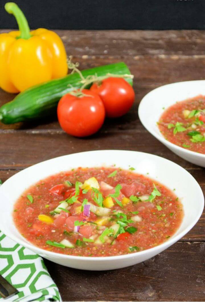 Easy Watermelon Gazpacho
