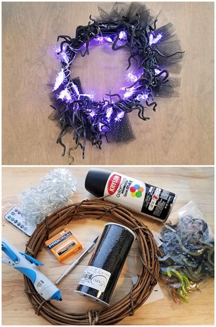 Halloween Wreath DIY For A Spooky