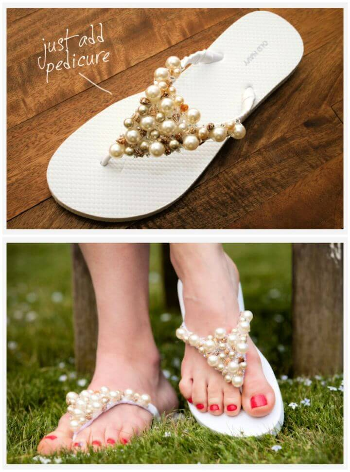 How To DIY Beaded Flip Flops