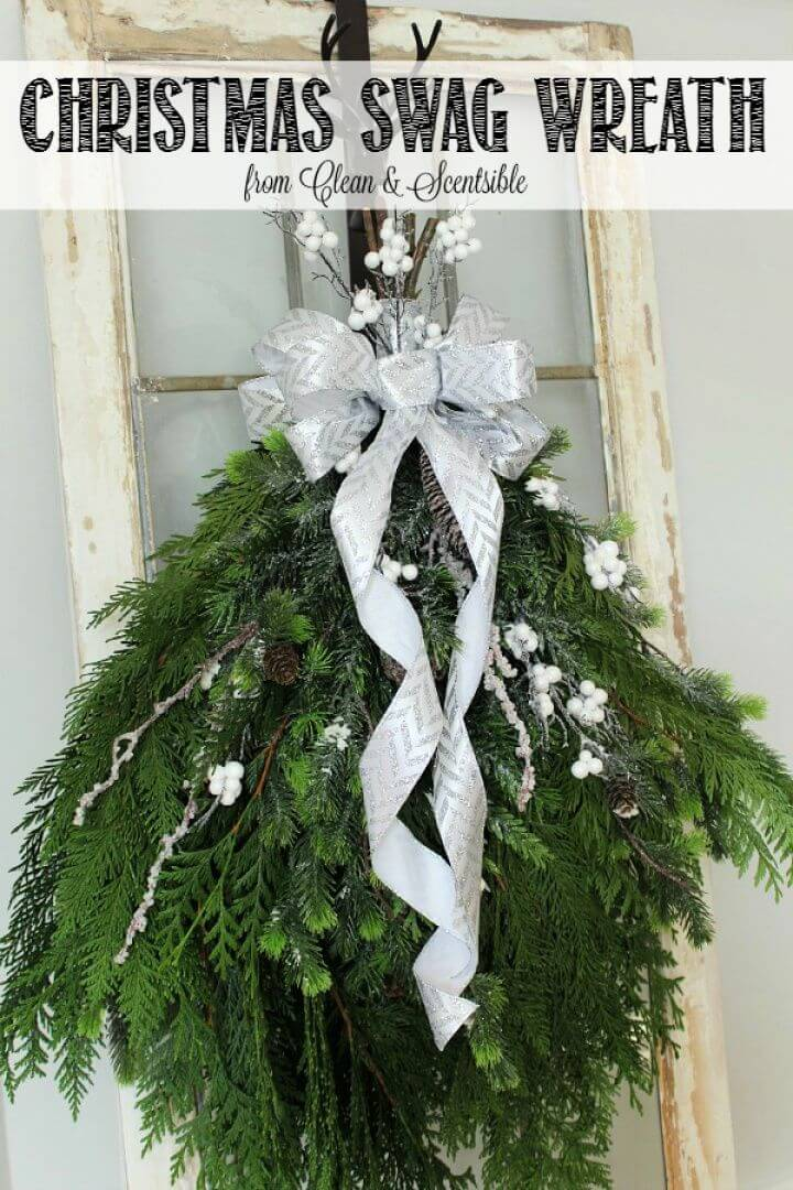 How To DIY Christmas Swag Wreath