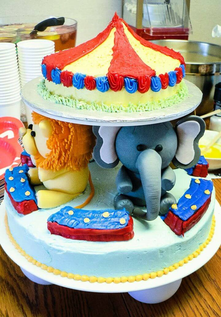 How To DIY Circus Baby Shower Cake