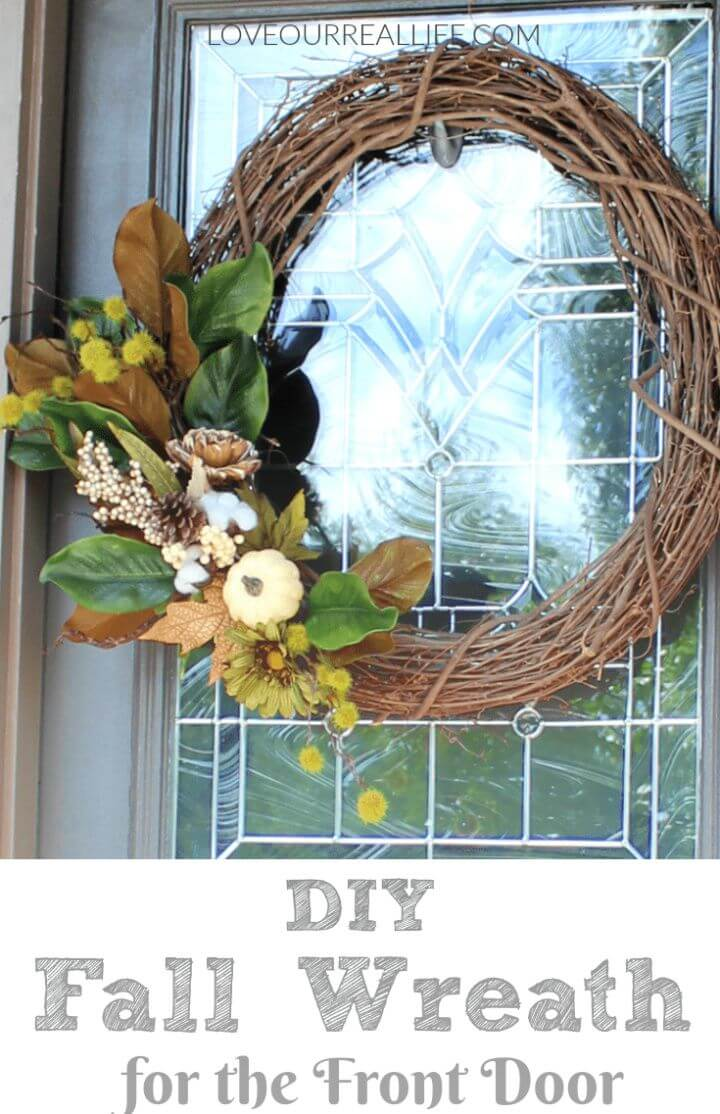 How To DIY Fall Wreath For The Front Door