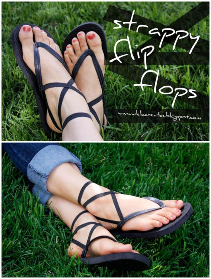 How To DIY Strappy Flip Flops