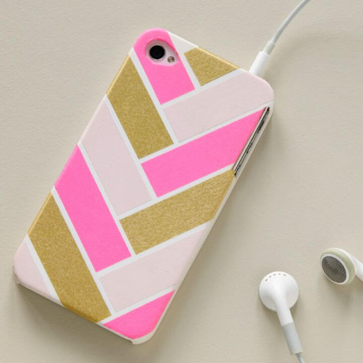 How To Make A DIY Washi Tape Iphone Cover 1