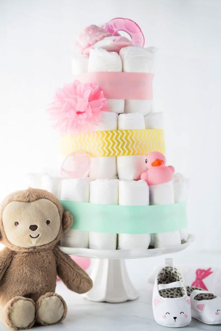 How To Make A Diaper Cake In 3 Easy Steps