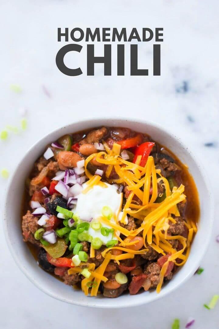 How To Make Homemade Chili