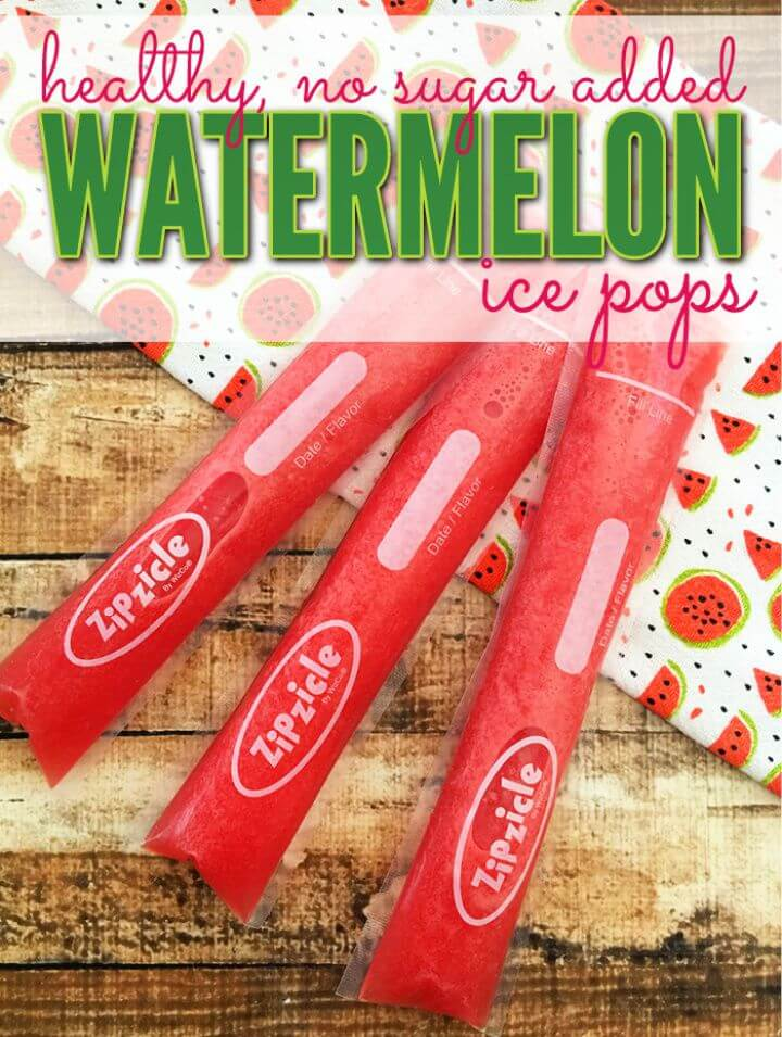 How To Make Homemade Watermelon Ice Pops