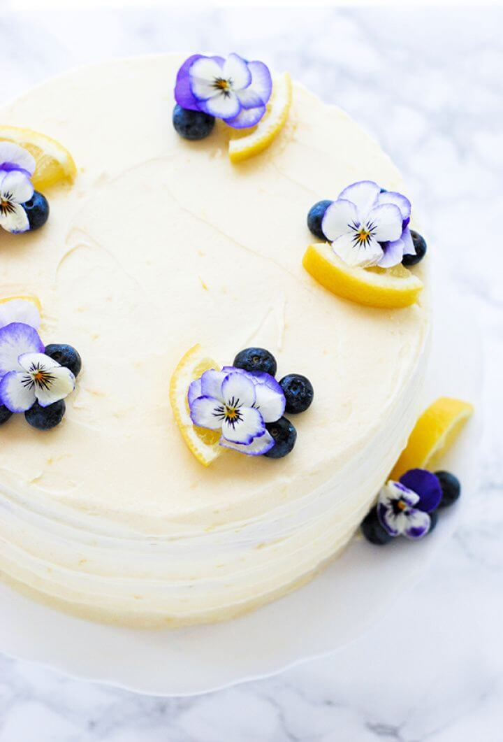 How To Make Lemon Blueberry Cake