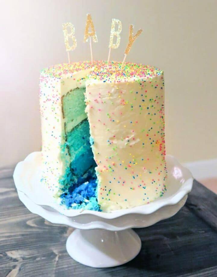 How To Make Sprinkle Tastic Gender Reveal Cake
