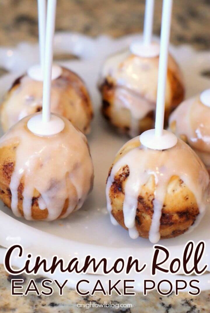 How To Make Your Own Cinnamon Roll Cake Pops