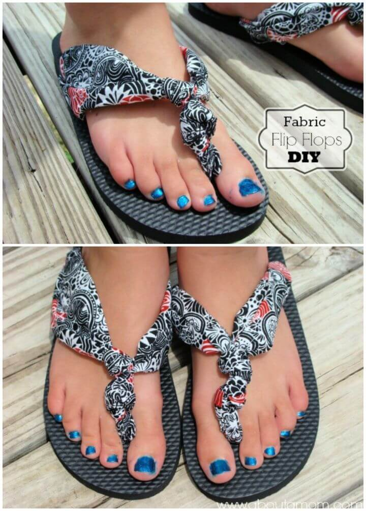 How To Make Your Own DIY Fabric Flip Flops