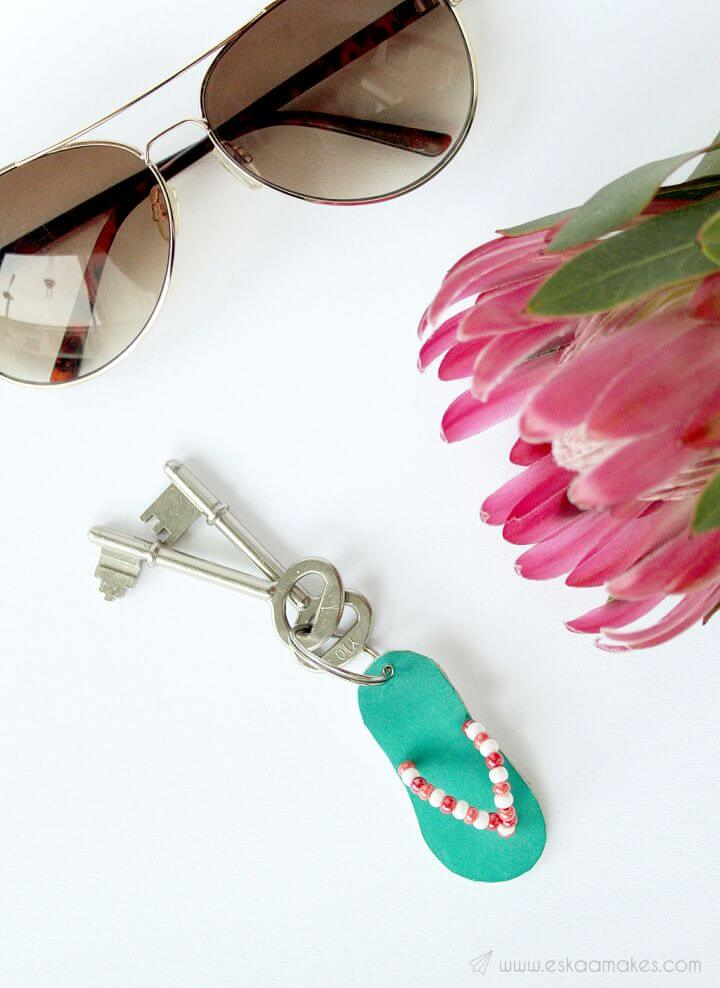 How To Make Your Own DIY Flip Flop Keyring
