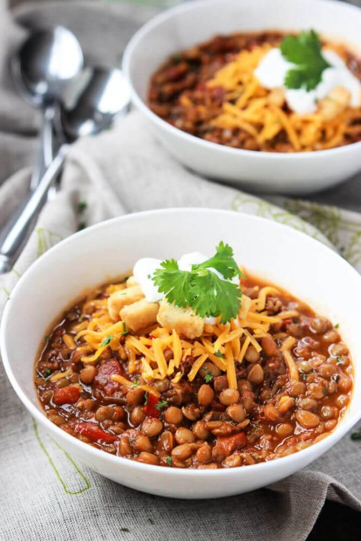 How To Make Your Own DIY Lentil Chili