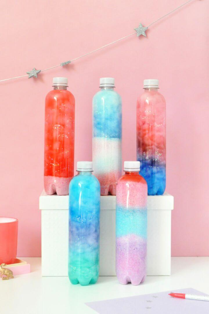 How To Recycled Nebula Bottle Art