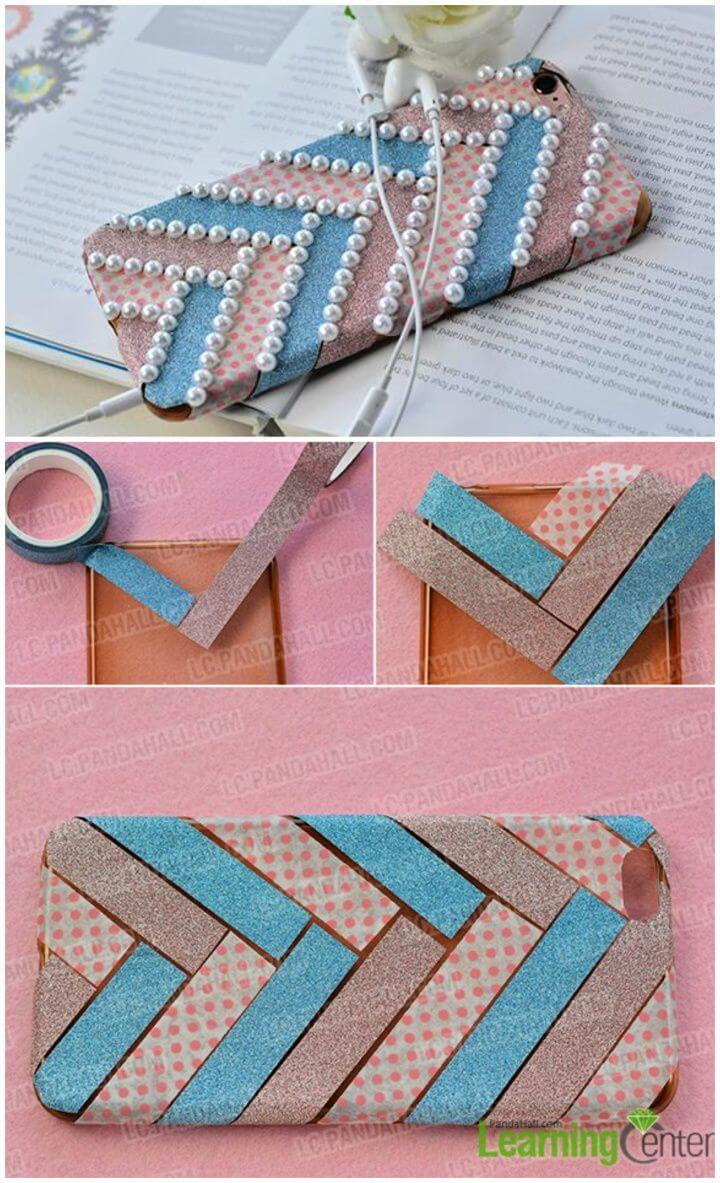 How to DIY a Fashion Washi Tape Phone Case 1