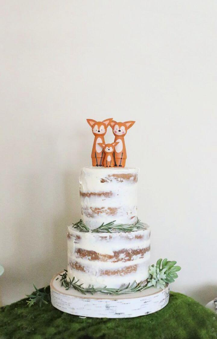 How to Make a DIY Naked Cake for a Party or Baby Shower