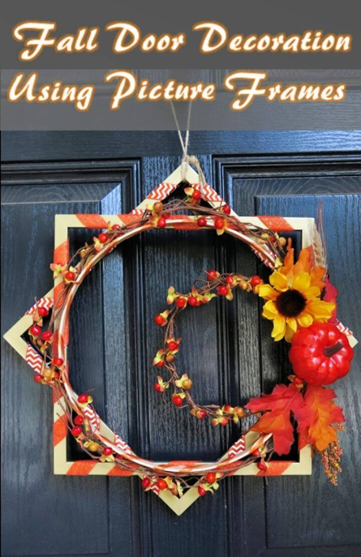 How to Make a Festive Fall Door Wreath Using Picture Frames