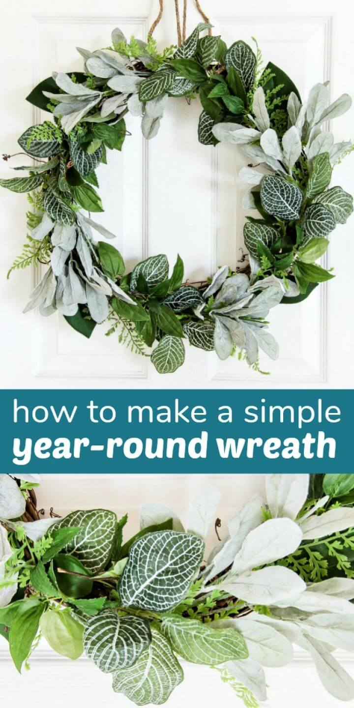 How to Make a Simple DIY Evergreen Wreath