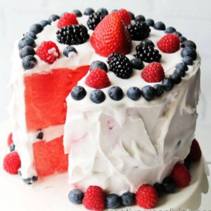 Layered Watermelon Cake
