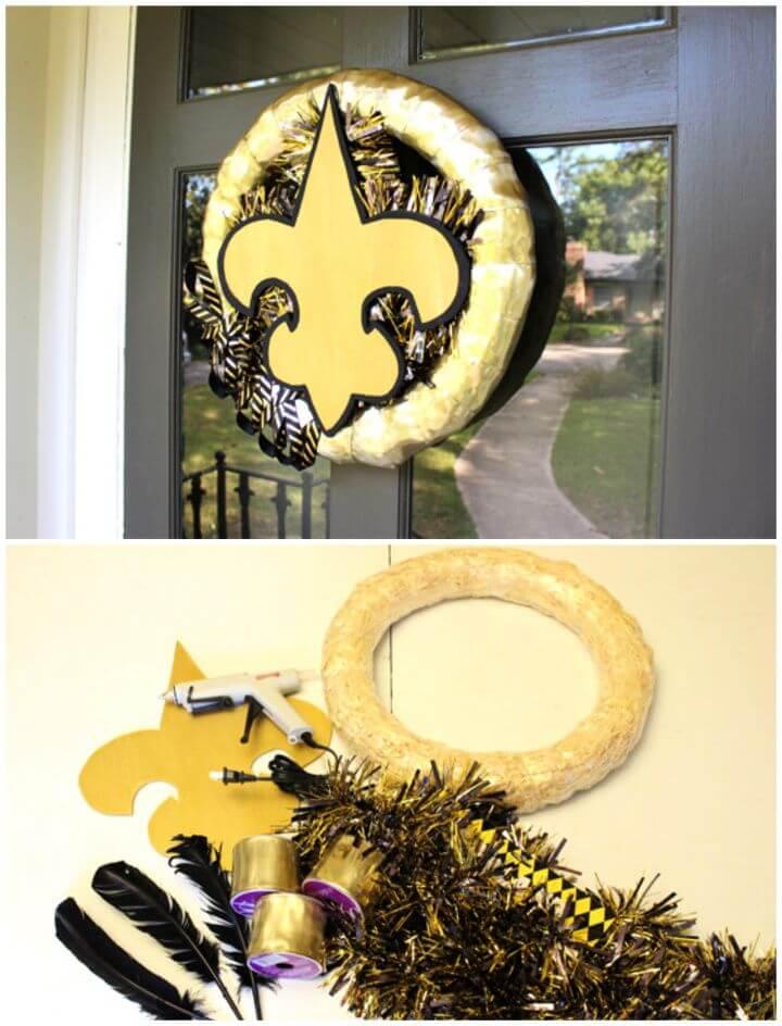 Make A DIY Geaux Saints Diy Wreath