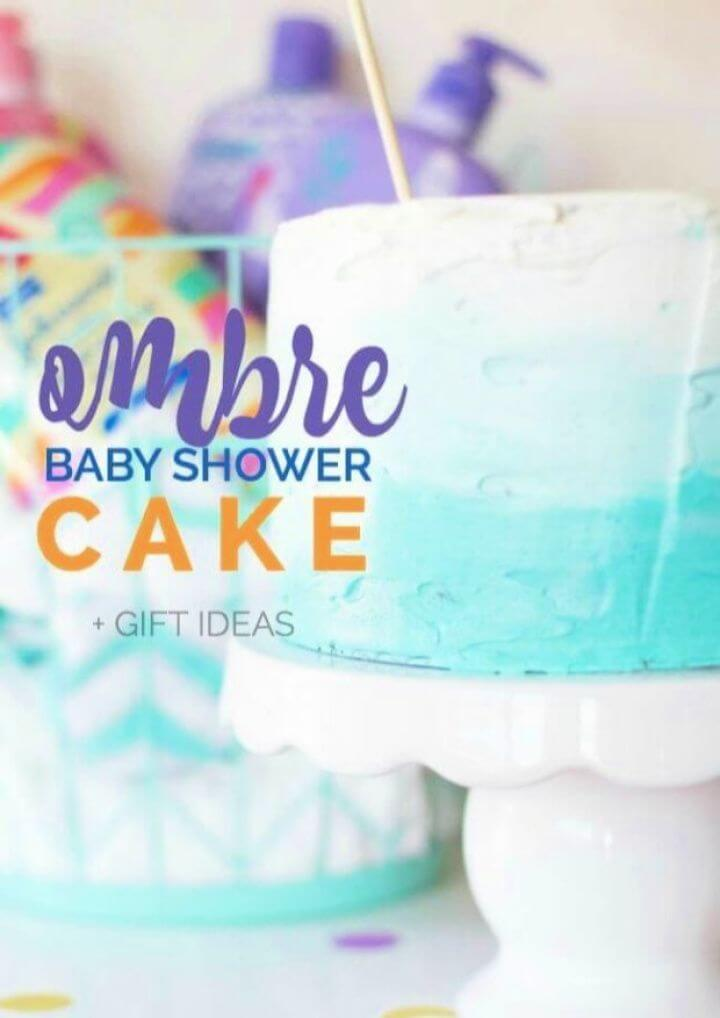 Make A DIY Ombre Baby Shower Cake