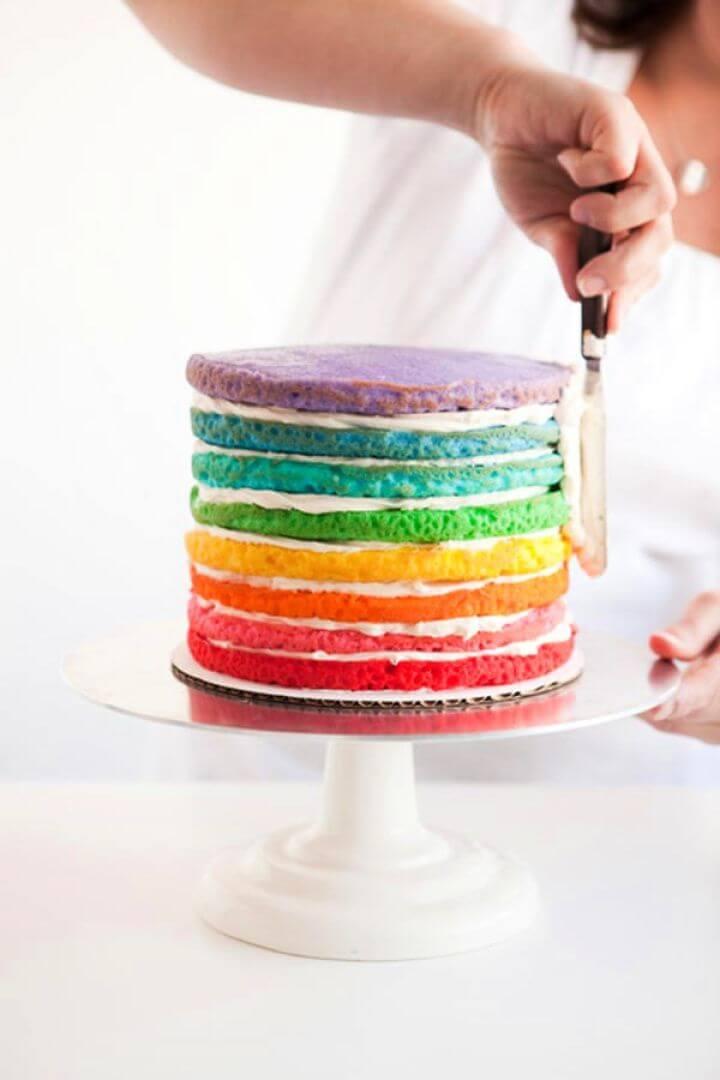 Make A DIY Rainbow Cake