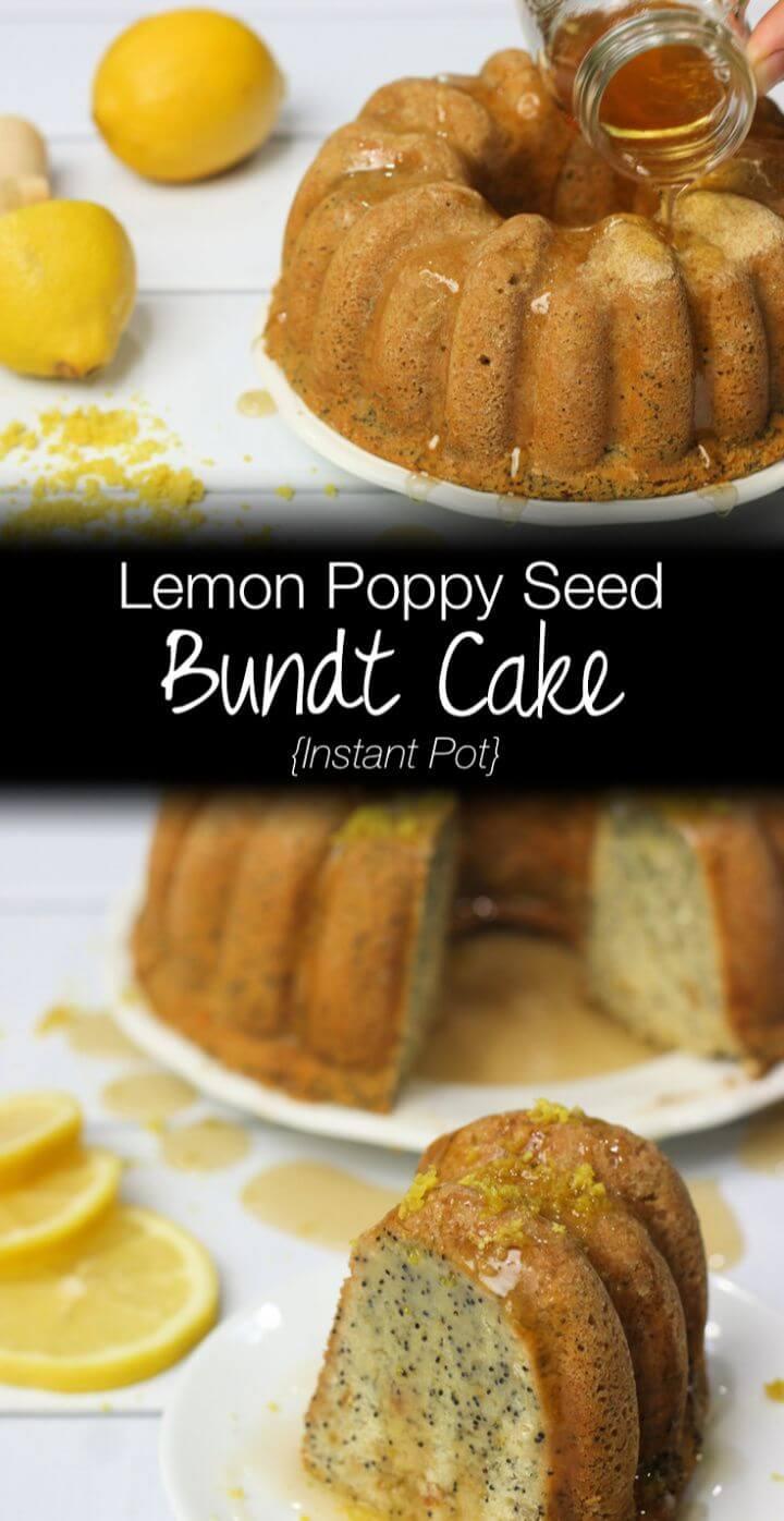 Make A Instant Pot Lemon Poppy Seed Bundt Cake