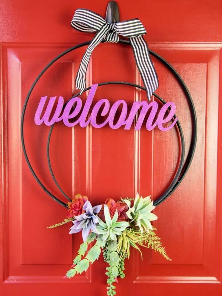Make Your Own DIY Faux Succulent Wreath
