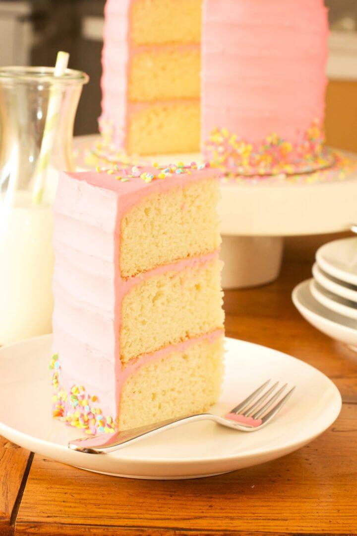 Make Your Own DIY Pink Vanilla Bean Cake