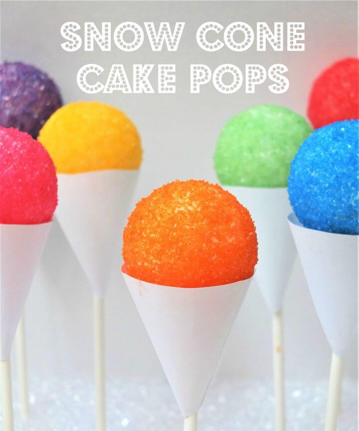 Make Your Own DIY Snow Cone Cake Pops