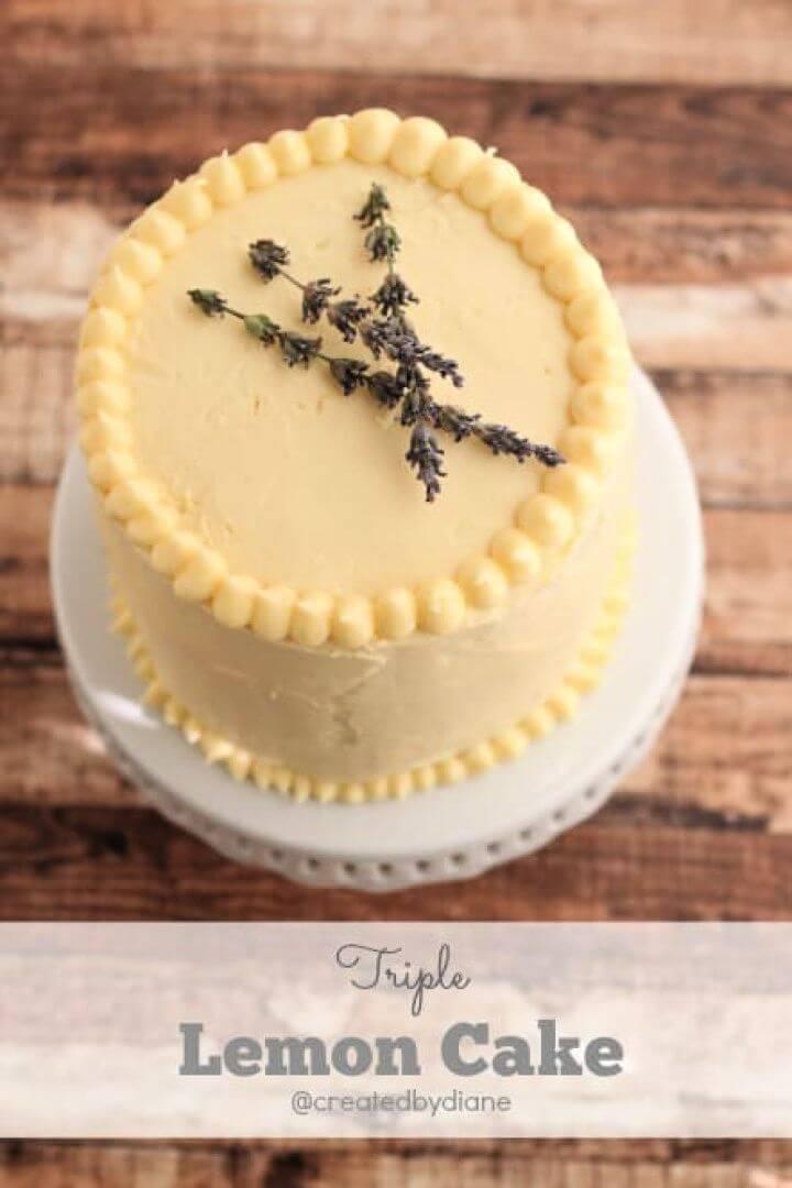 Make Your Own DIY Triple Lemon Cake