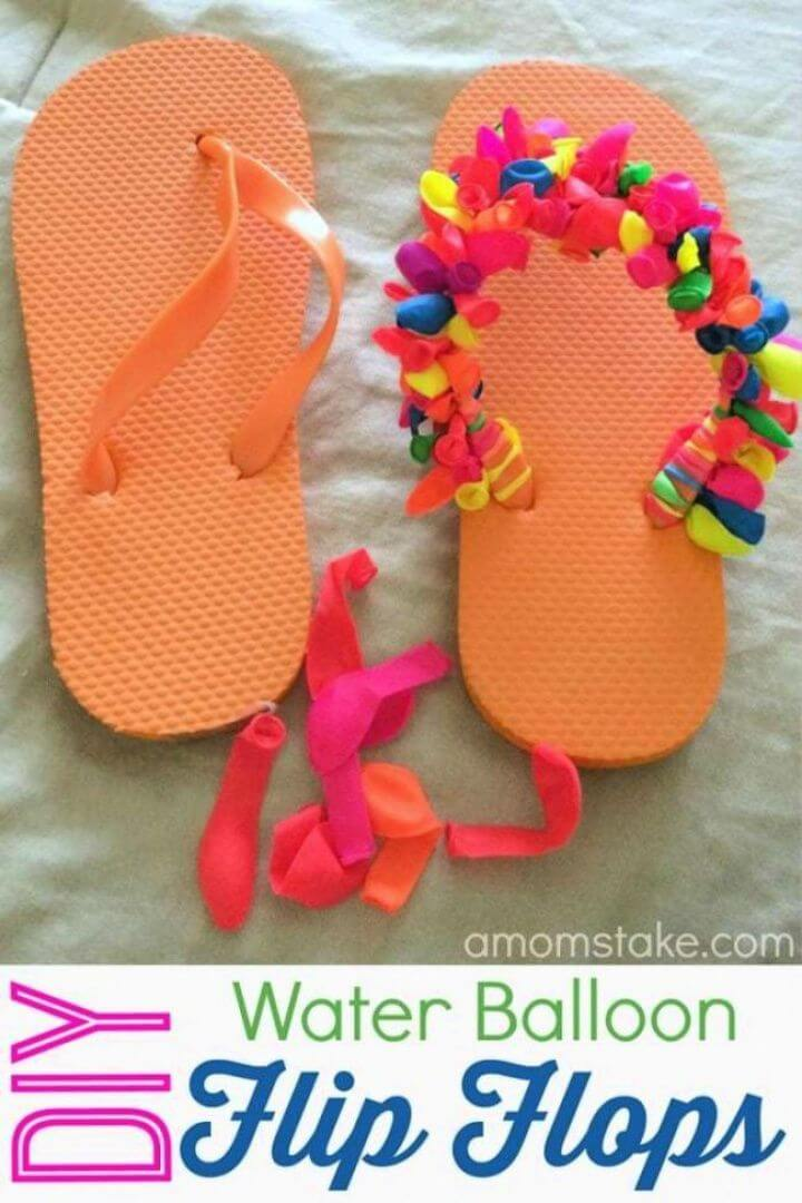 Make Your Own DIY Water Balloon Flip Flops