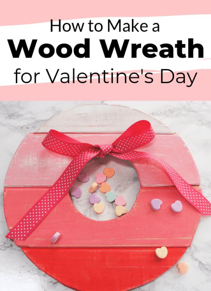 Make a DIY Ombre Wood Wreath for Valentine's Day