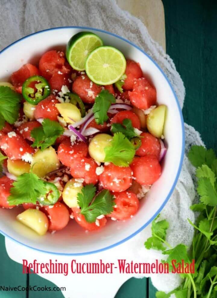 Refreshing Cucumber Watermelon Salad