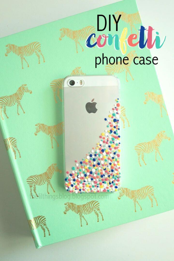 Simple DIY Confetti Phone Cover Top Tutorial 1