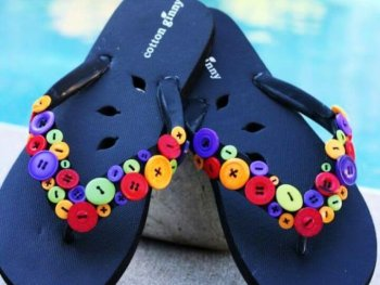 Simple DIY Fun Funky Flip Flops