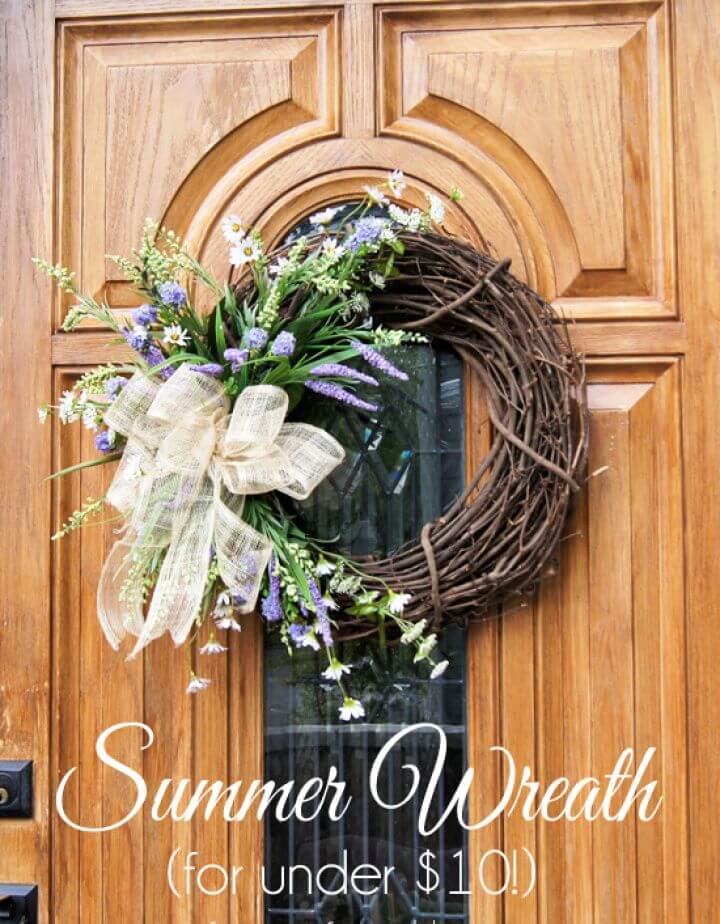 Simple DIY Summer Wreath for Under 10