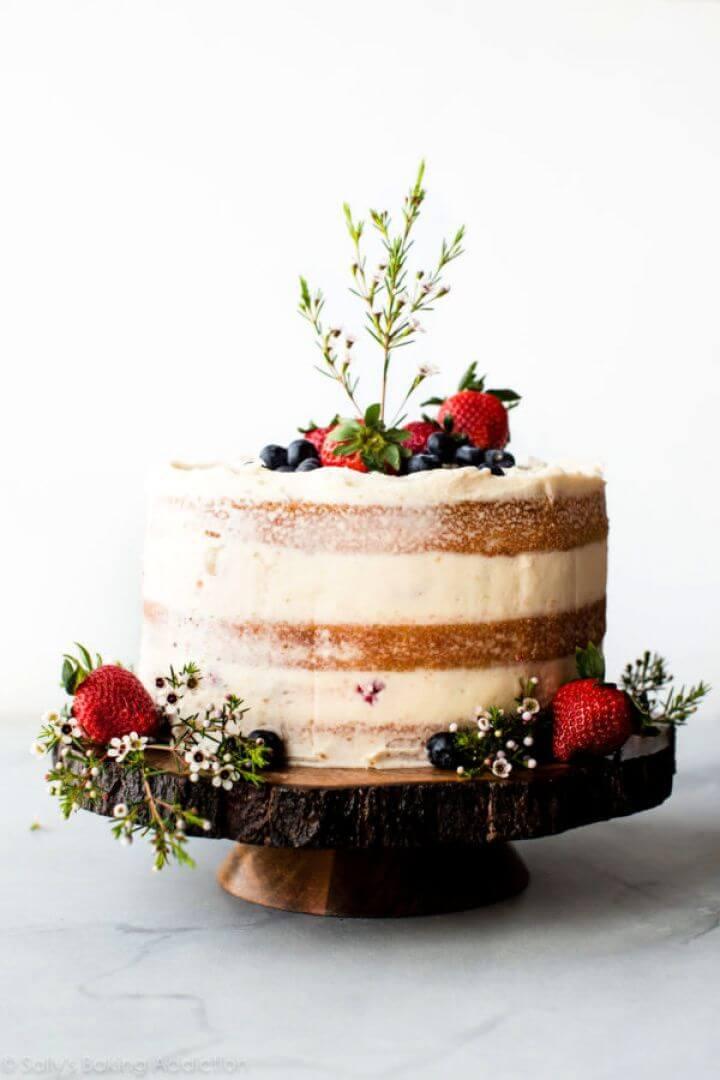 Simple DIY Vanilla Naked Cake