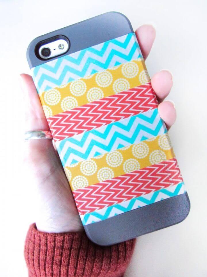 Simple DIY Washi Phone Case 1