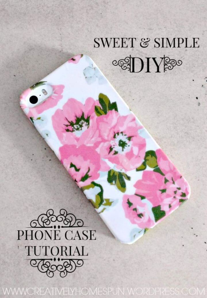Simple Easy DIY Phone Case Tutorial 1