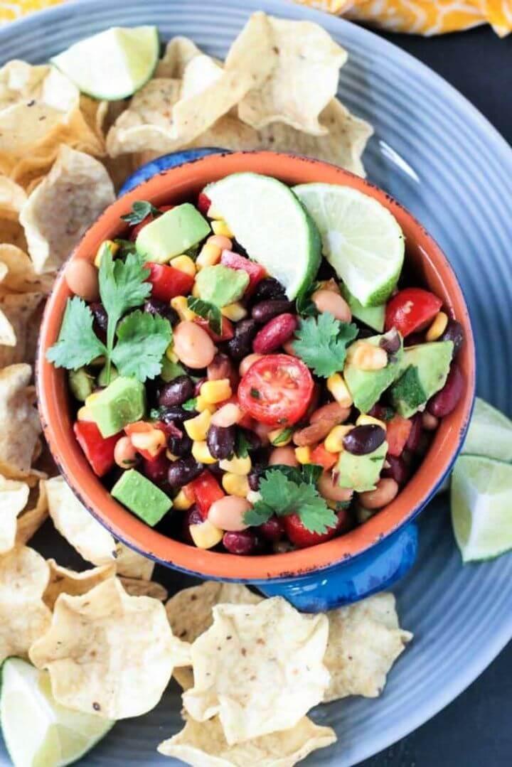 Smoky Cilantro Lime Mexican Bean Dip